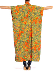 Morphew Collection Kaftan In Vintage 1940's Japanese Kimono Silk