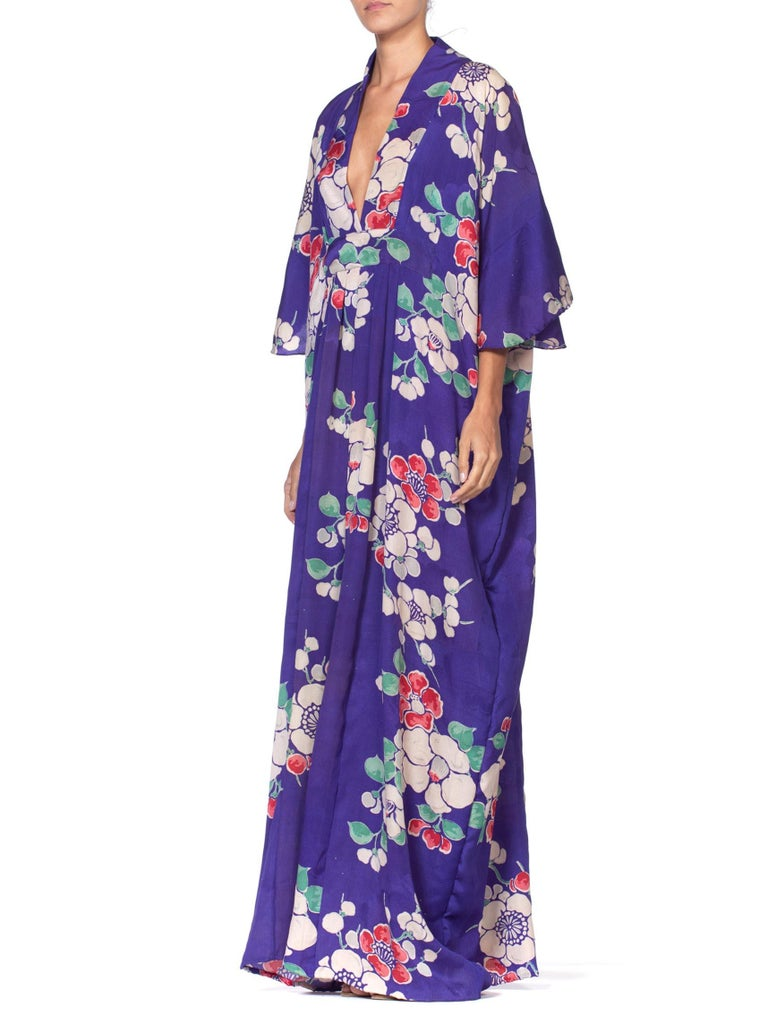 MORPHEW COLLECTION Kaftan In 1940'S Japanese Silk Kimono