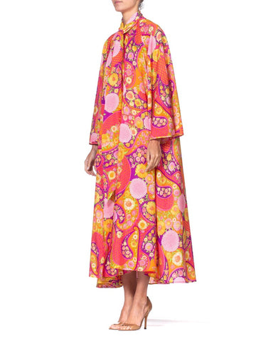 1960S Hot Pink Floral