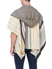 Morphew Collection African Indigo Tunic Poncho With Hood