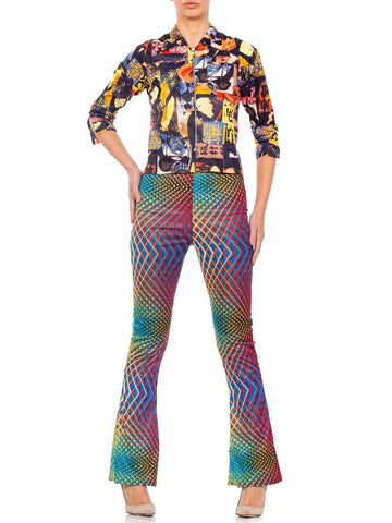 1990'S  Boy Of London Jacket & Vintage Raver Pant Set Ensemble