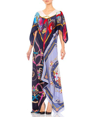 1960s Morphew Status Print Silk Twill Scarf Dress