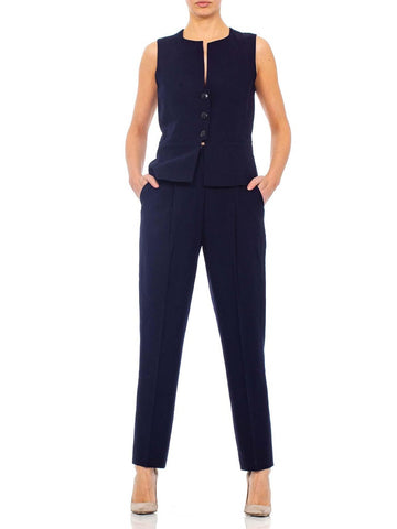 1990s KARL LAGERFELD Black Rayon Blend Pant Suit