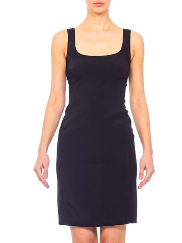 1990s PRADA Black Poly Blend Perfect Little Dress With Stretch