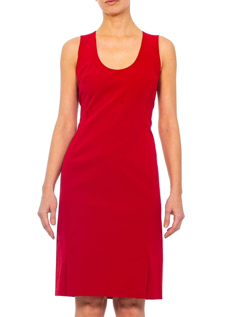 1990s PRADA Red Poly Blend Dress