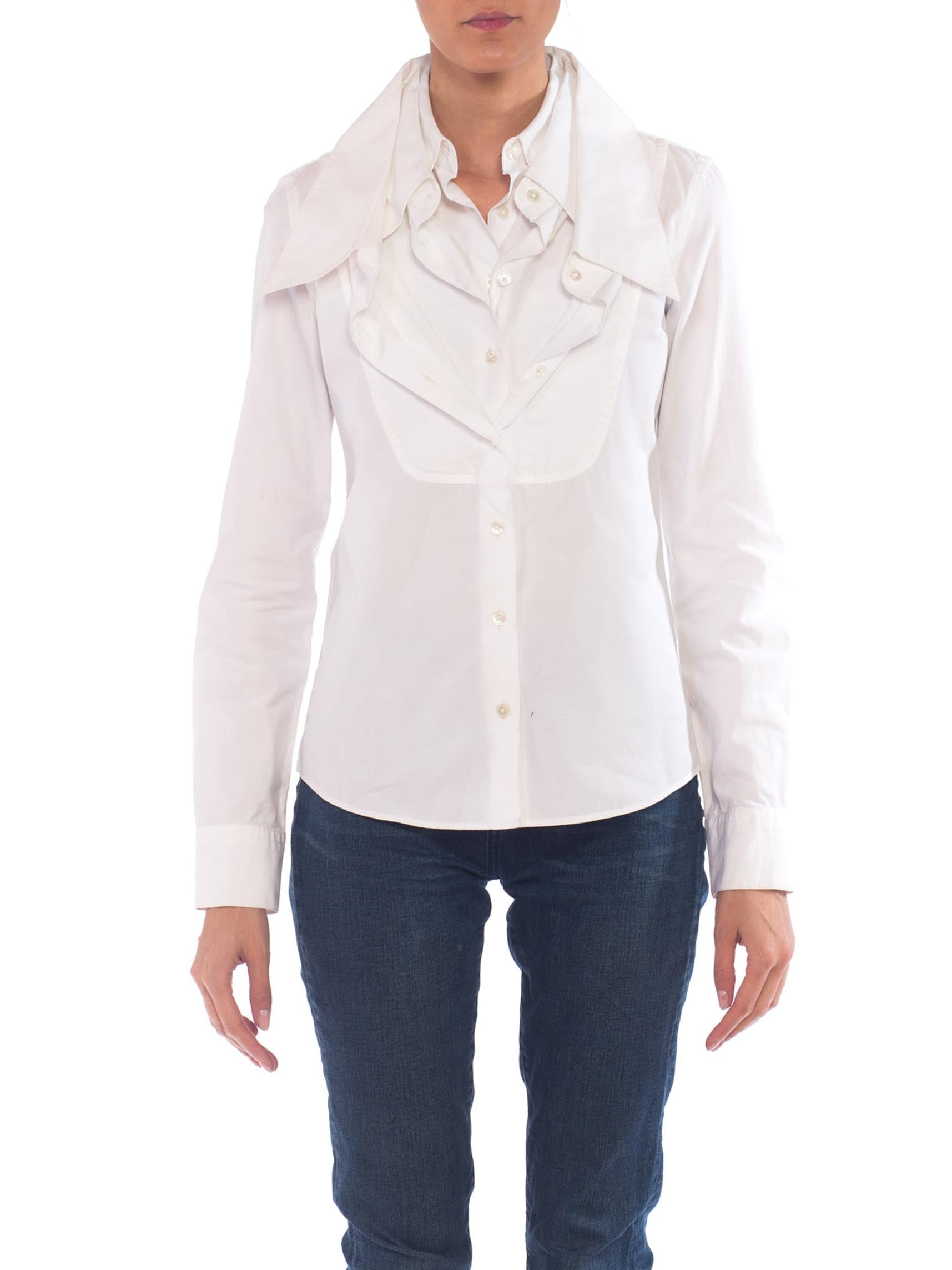 Viktor & Rolf Iconic Multi Collar White Cotton Shirt