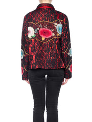 Boho Lace Jacket with Floral Embroidery
