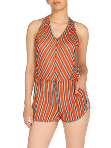 Missoni Striped Knit Racerback Romper