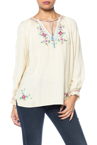 Rayon Ethnic Embroidered Top