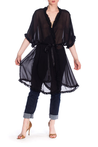 1920s Style Chiffon Robe from the 1990s