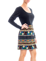 1960s Ethnic Embroidered Mini Dress