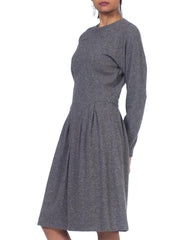 1970s Geoffrey Beene Wool Jersey Dress with Silk Lining