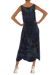 1920s Velvet Beaded Flapper Free Size  Dress