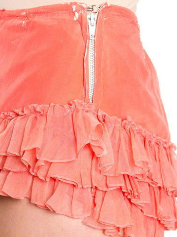 1930s Pink Silk and Chiffon Ruffled Tap Shorts