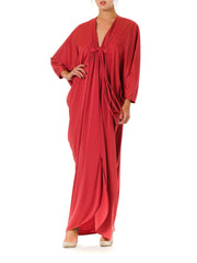 1970s Batwing Caftan Oversized Maxi Dress