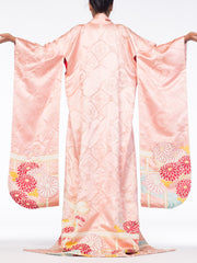 Rich Soft Hand Painted Silk Kimono With Flowers & Gold Details