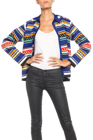 1960S Cotton Seminole Indian Multicolor Jacket