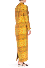 1960S Adele Simpson Silk Chinese Inspired Dress