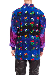1990s Men'sGianni Versace Silk and Cordery Shirt