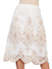 1970S Victorian Style Embroidered Lace  Skirt