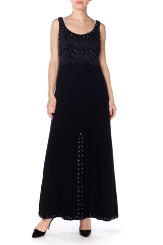 1960s Loris Azzaro Dress with Metal Chain Fringe