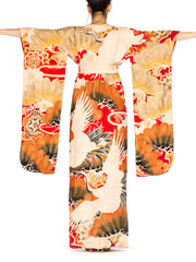 Antique Hand Painted Kimono Dress