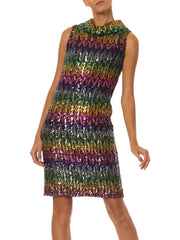 1960s Disco Rainbow Sequined Dress from Magnin