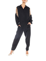 Wool and Suede Jumpsuit