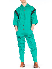 1980s Kansai Japanese Workwear Jumpsuit with Zip Off Sleeves