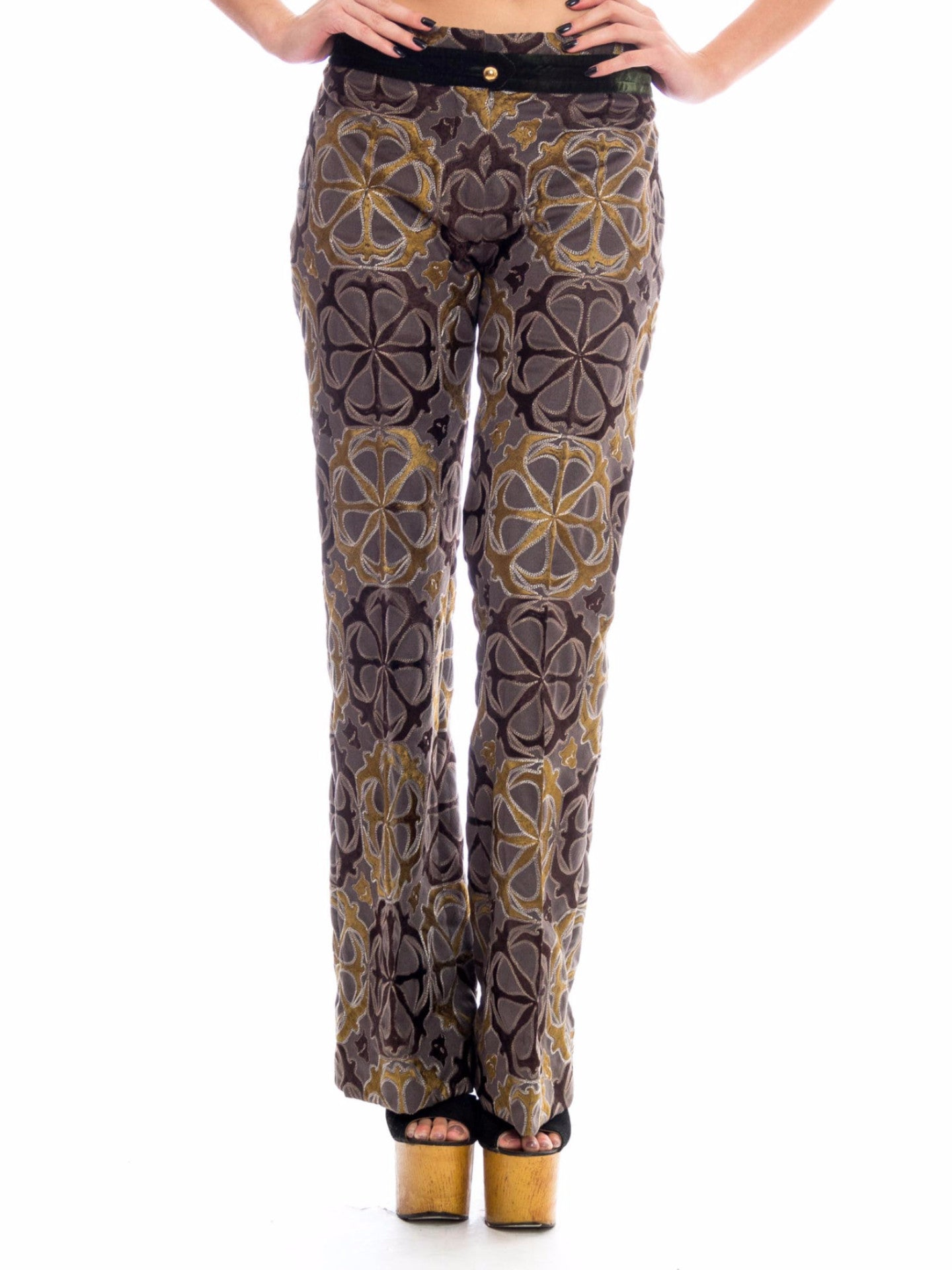 1990s Gianfranco Ferre Fully Embroidered Trousers