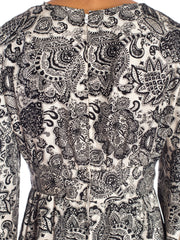 1960s Silk Paisley Day Dress
