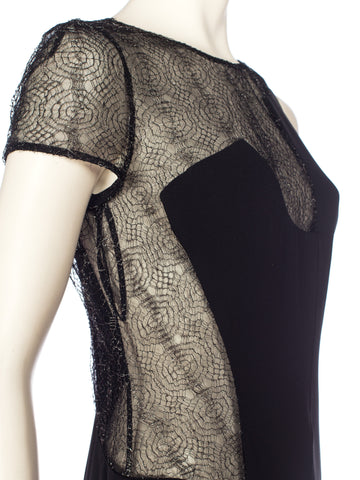 1990S Gianni Versace Rayon, Lace And Silk Dress