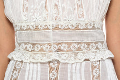 1905 Cotton and Lace Dress