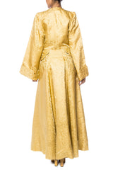 1940s Chinese Silk Damask Robe