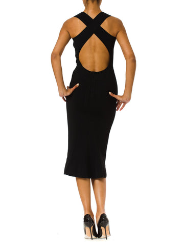 1980S Azzedine Alaia  Sexy Open Back Dress