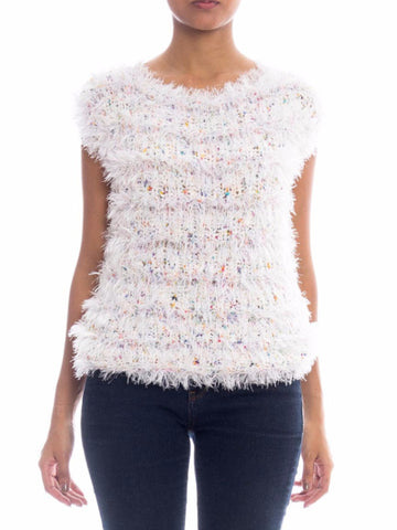 1980s Fuzzy Crocheted Top