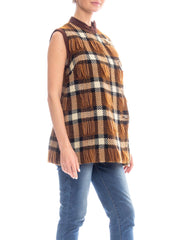 1960s Plaid Wool Top