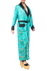 1960s Asian Print Mens Robe