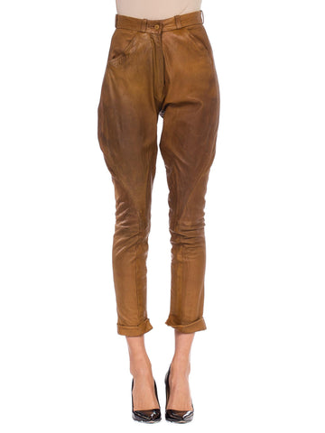 1970s Hermes Leather Riding Pants