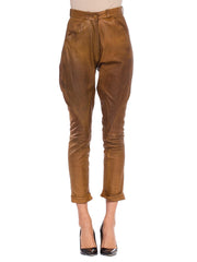 1970S Hermes Caramel Brown Leather Riding Pants With Fantastic Patina From Paris