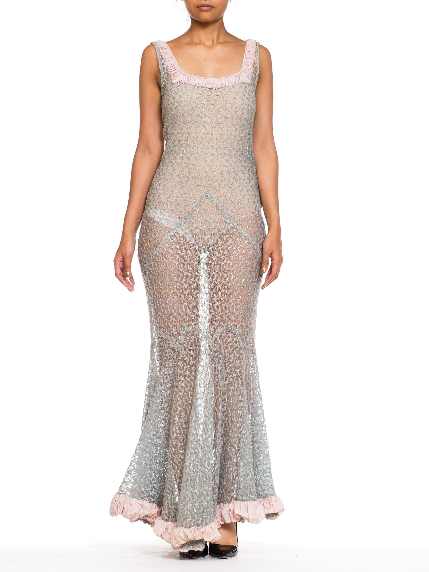 Sheerlace Embroided Net 1930s Gown – MORPHEW