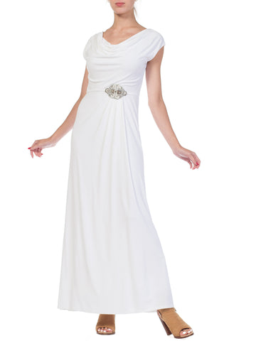 1970s Draped Grecian Goddess Gown