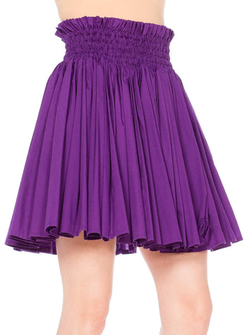 Purple Celeste Pleasted Short Skirt