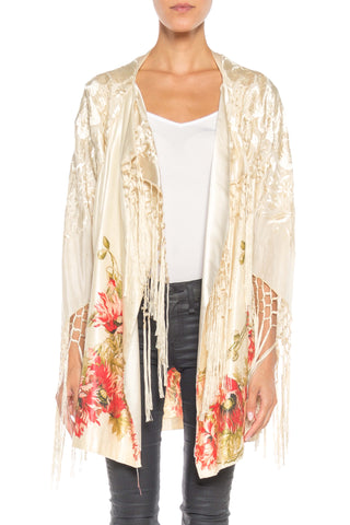 Morphew Lab Asian Silk Floral Print Jacket