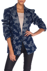 Denim and Lurex Brocade Jacket