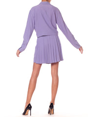 Gianni Versace Periwinkle Lilac Safety Pin Suit