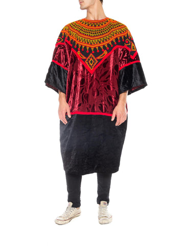 African Embroidered Velvet Tunic