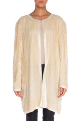 1980s Pearl Encrusted Silk Jacket