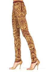 Knit Ethnic Pattern Mcqueen Leggings