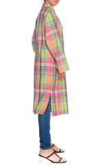 1980s Christian Sijnen Plaid Coat